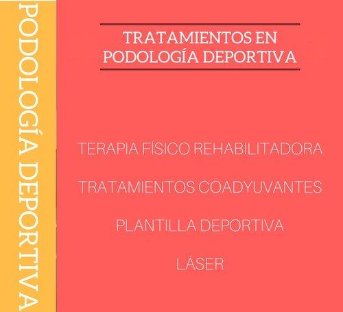 Tratamientos de podología deportiva.